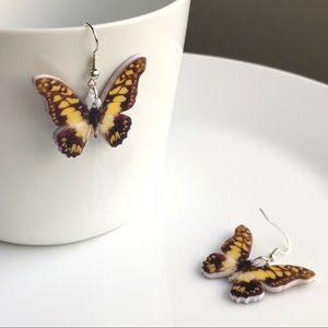 NEW Acrylic Swallowtail Butterfly Earrings